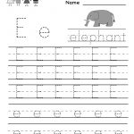 Kindergarten Letter E Writing Practice Worksheet Printable | Free Printable Letter Practice Worksheets