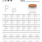 Kindergarten Letter P Writing Practice Worksheet Printable | Free Printable Letter P Worksheets