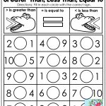 Kindergarten Math: Comparing Numbers | Worksheet | Kindergarten Math | Greater Than Less Than Worksheets Free Printable