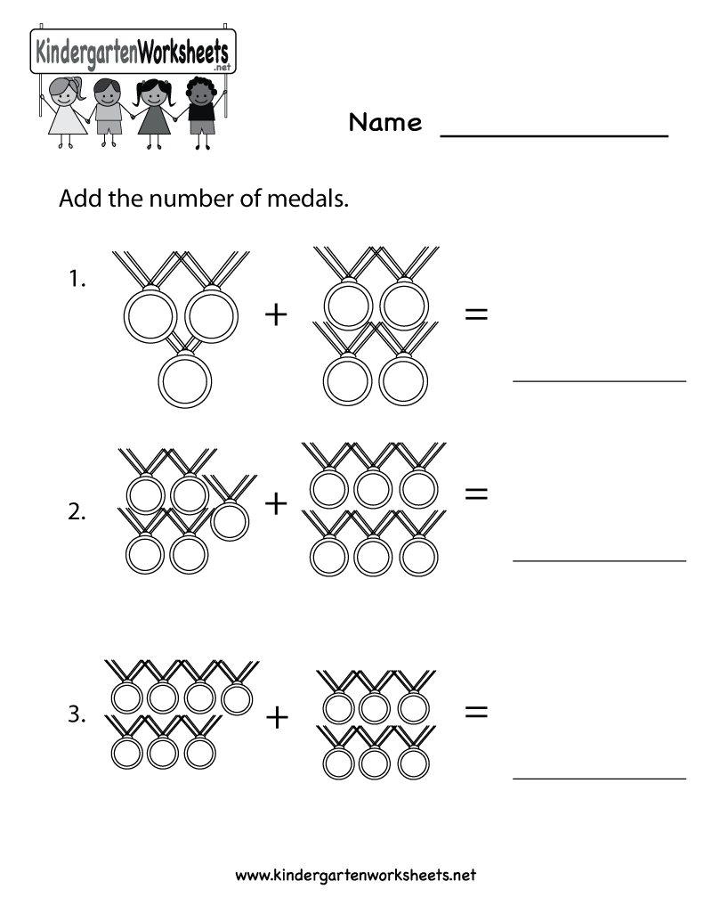 Kindergarten Olympics Math Worksheet Printable | Classroom | Kids | Olympic Printable Worksheets