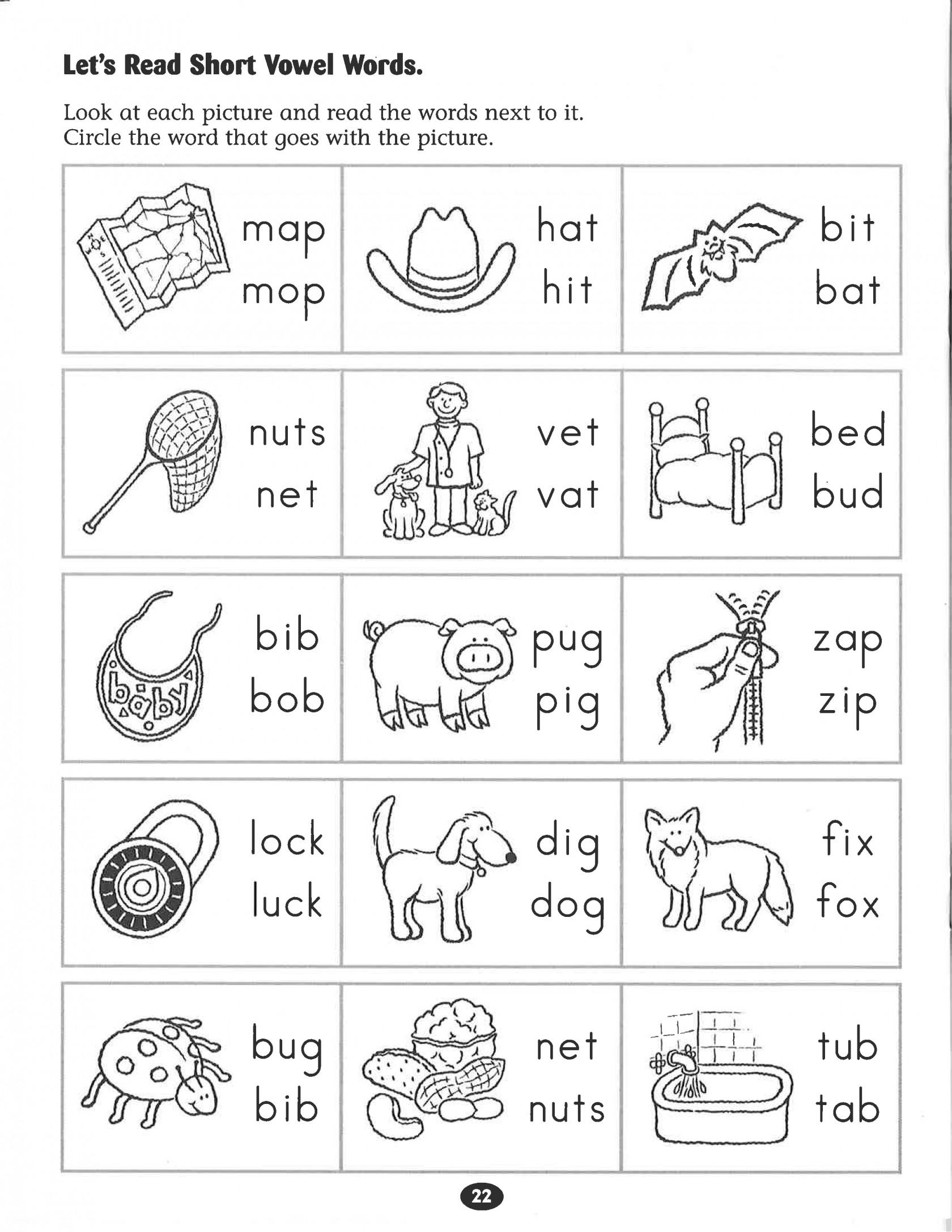 Kindergarten Phonics Worksheets Inspirational Kindergarten Free | Short A Printable Worksheets