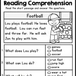 Kindergarten Reading Comprehension Passages   Set 1 | Teacher | Free Printable Reading Worksheets For 1St Grade