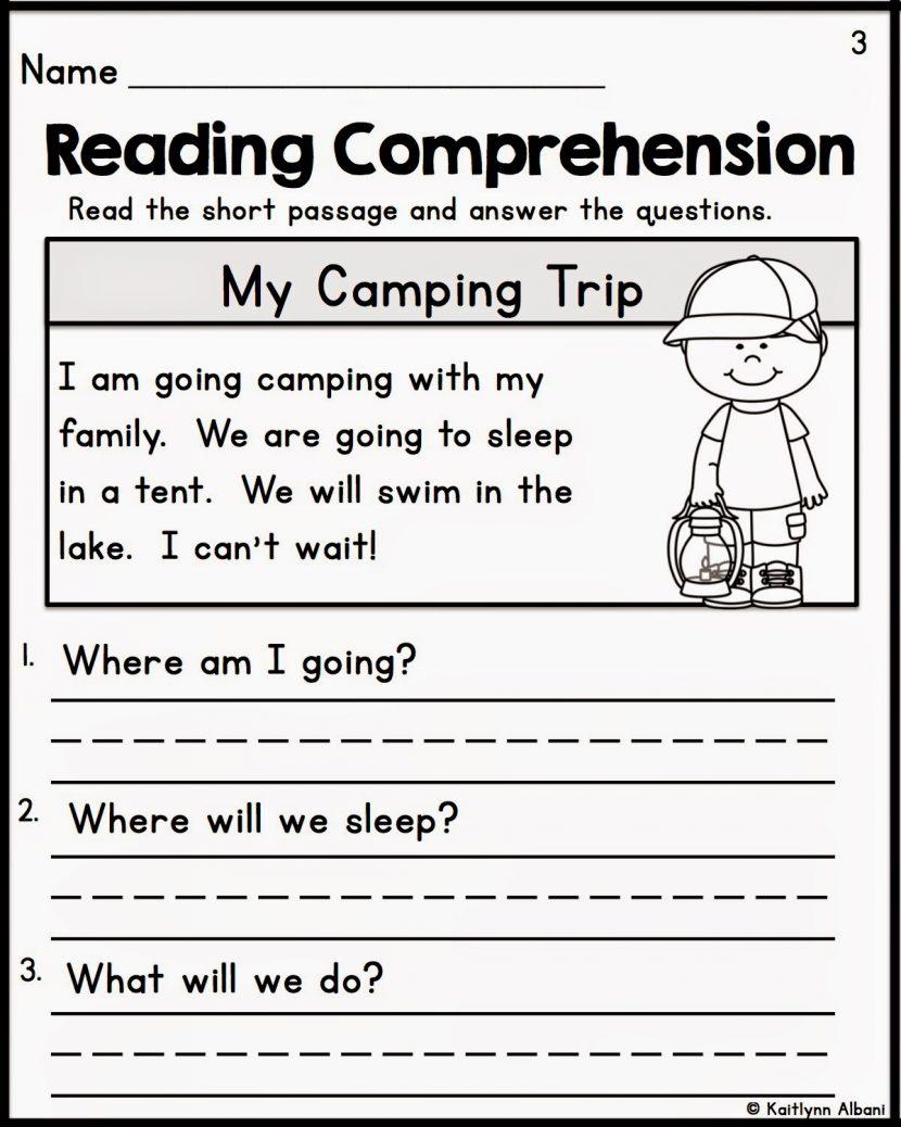 Kindergarten Reading Comprehension Worksheets Multiple Cho - Free | Kindergarten Reading Printable Worksheets
