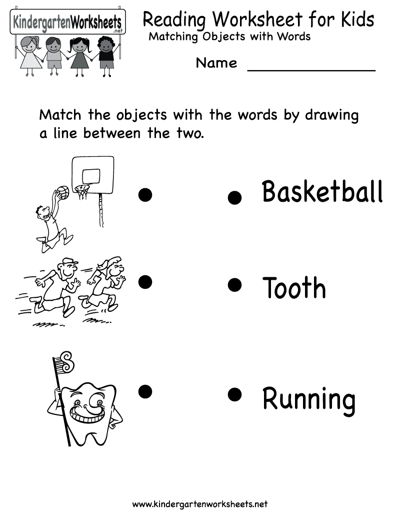 Kindergarten Reading Worksheet For Kids Printable | Worksheets | Free Printable English Reading Worksheets For Kindergarten