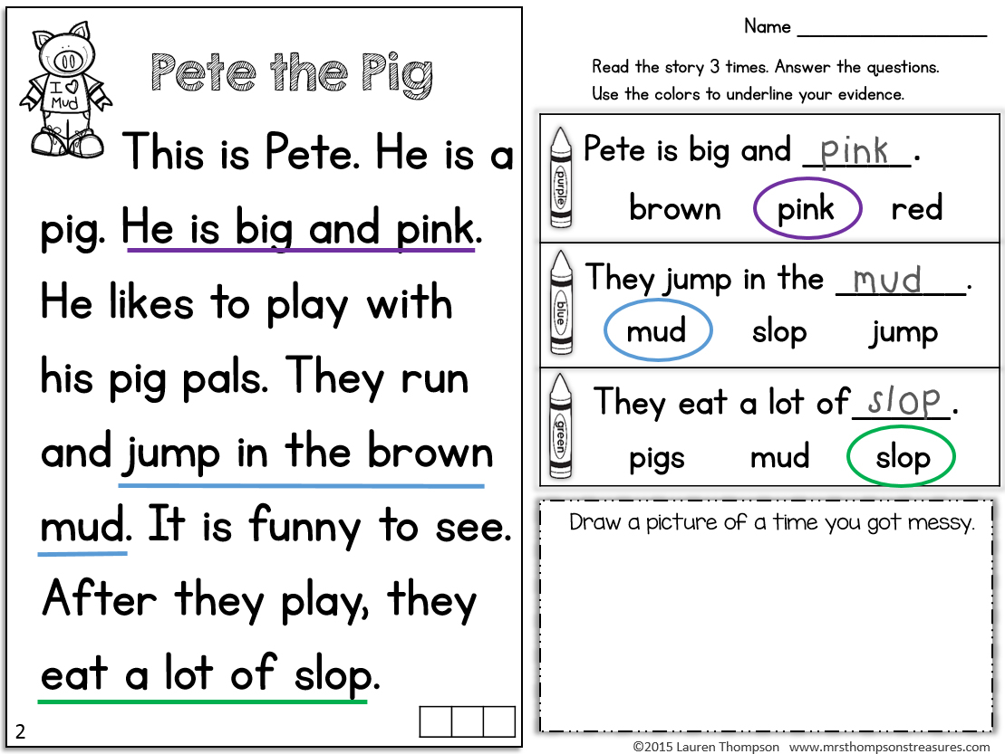 Kindergarten Reading Worksheets – With Free Math For Kids Also 3Rd | Free Printable English Reading Worksheets For Kindergarten