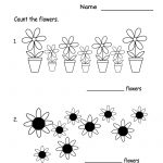Kindergarten Spring Flowers Worksheet Printable | Spring Worksheets | Spring Printable Worksheets