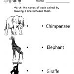 Kindergarten Zoo Animal Worksheet Printable | Worksheets (Legacy | Free Printable Zoo Worksheets