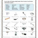 Kitchen Utensils Worksheet   Free Esl Printable Worksheets Made | Free Printable Cooking Worksheets