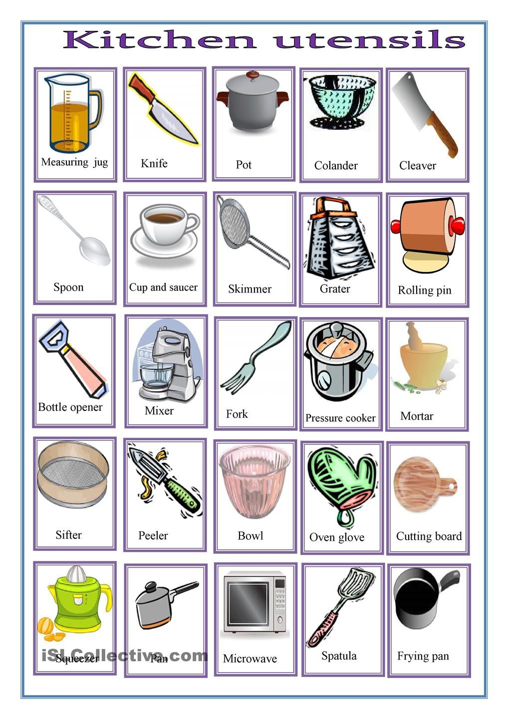 Kitchen Worksheets Free - Google Search | Work | Preschool Cooking | Free Printable Cooking Worksheets