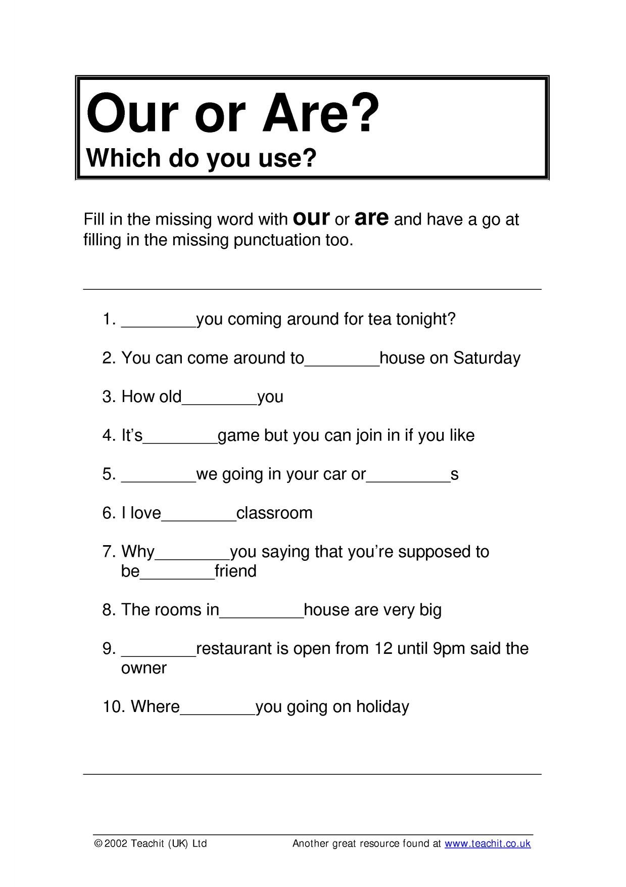 Ks3 Grammar And Vocabulary | Spelling | Teachit English | Literacy Worksheets Ks3 Printable