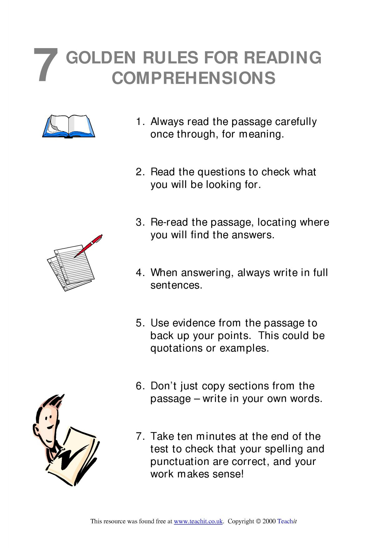 Ks3 Reading | Comprehension | Teachit English | Literacy Worksheets Ks3 Printable
