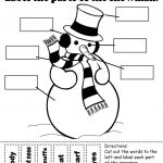 "Label The Snowman"" Worksheets (2 Free Printable Versions) 