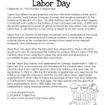 Labor Day  What You Need To Know (Free Worksheet!) | Squarehead Teachers | Free Printable Labor Day Worksheets