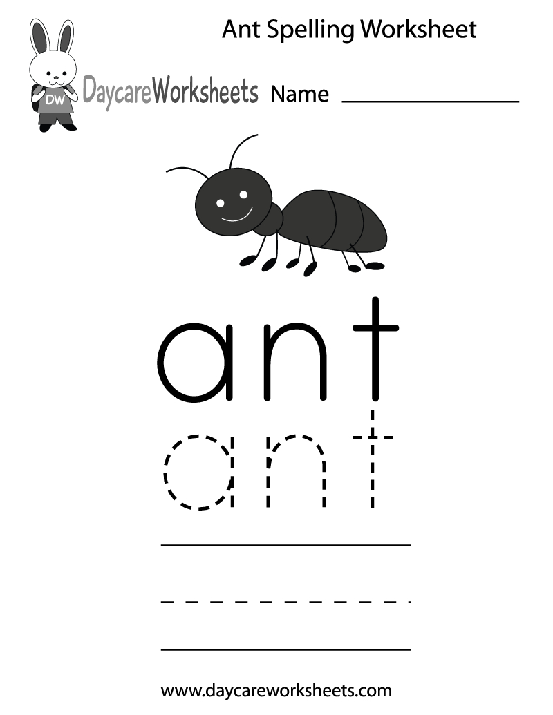 Learn And Practice How To Spell The Word Ant Using This Printable | Ant Worksheets Printables