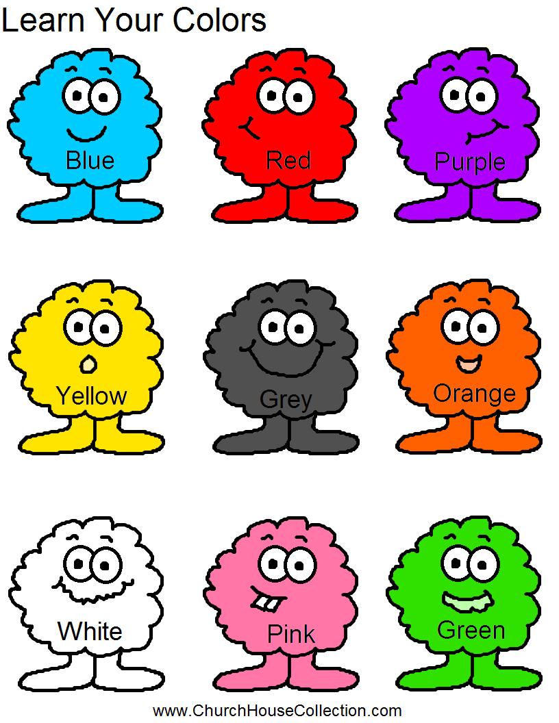 Learn Your Colors Preschool Kids Worksheet | Learning Colors Printable Worksheets