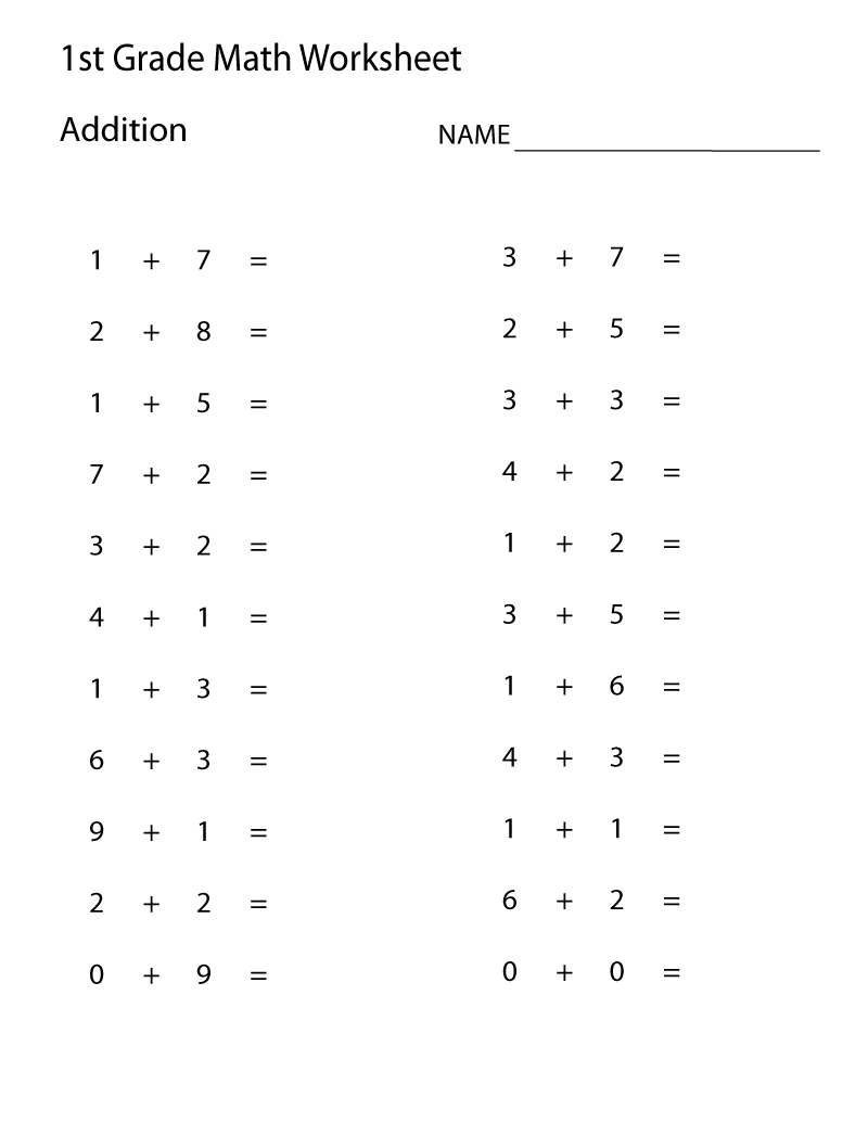 Learning Addition Facts To 1212 First Grade Math Worksheets Double | First Grade Math Facts Printable Worksheets