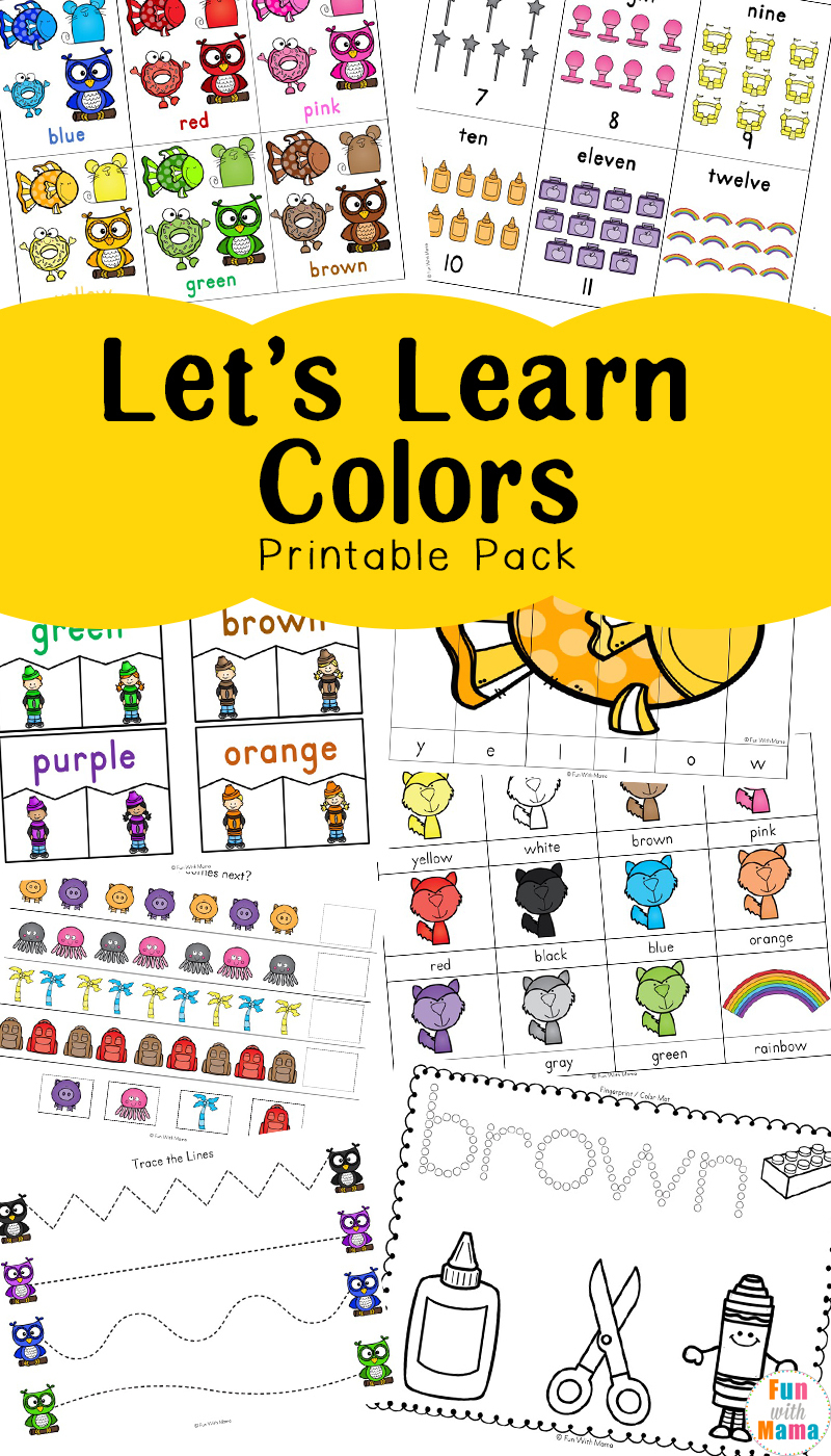 Learning Colors With Fun Color Themed Printable Worksheets - Fun | Learning Colors Printable Worksheets