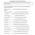 Learning Subject Verb Agreement Worksheet | Language Arts | Subject | Subject Verb Agreement Printable Worksheets High School