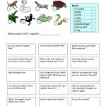 Let's Talk About Reptiles Worksheet   Free Esl Printable Worksheets | Free Printable Reptile Worksheets