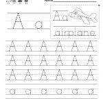 Letter A Writing Practice Worksheet   Free Kindergarten English | Kindergarten Worksheets Printable Writing