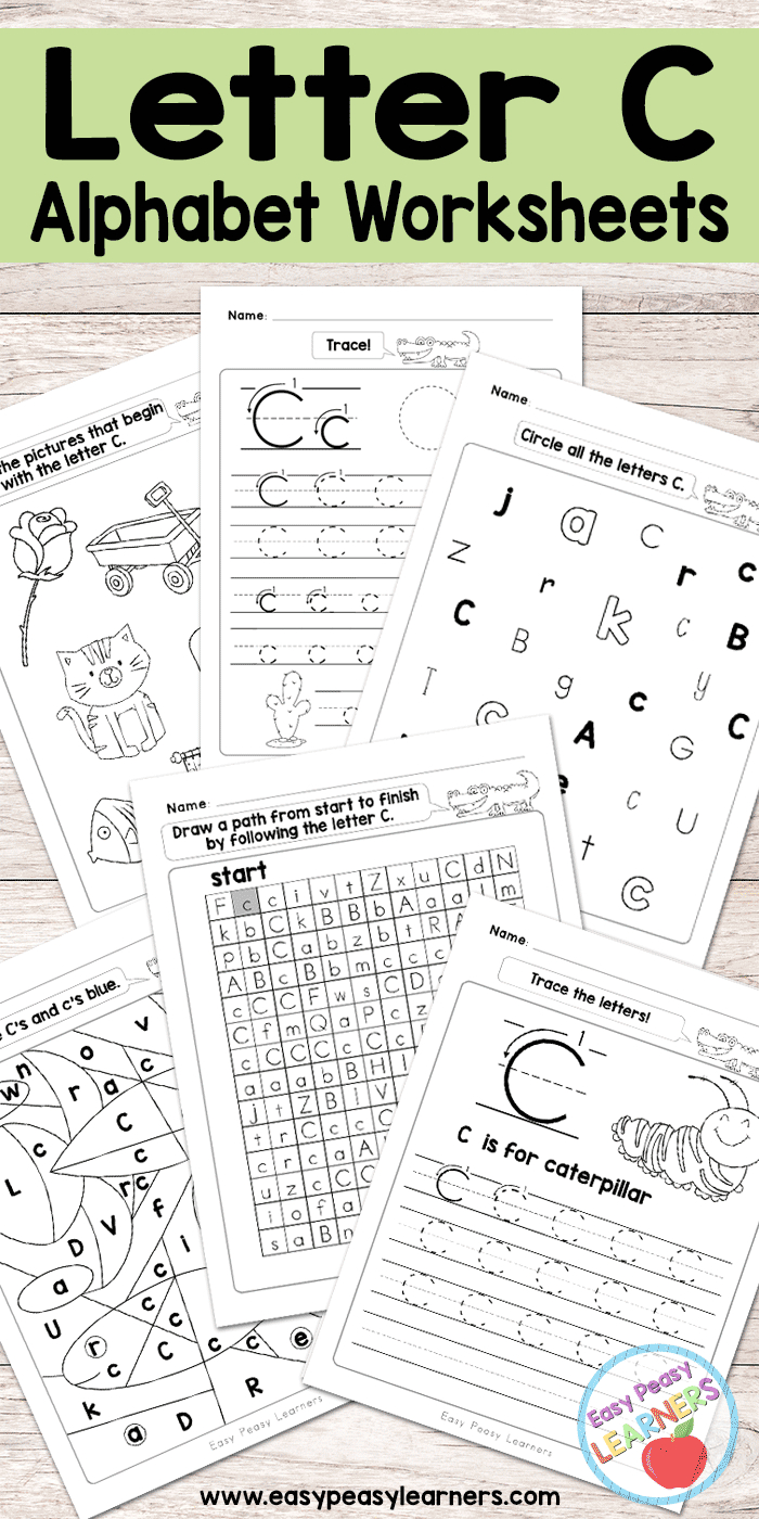 Letter C Worksheets - Alphabet Series - Easy Peasy Learners   Letter C Printable Worksheets