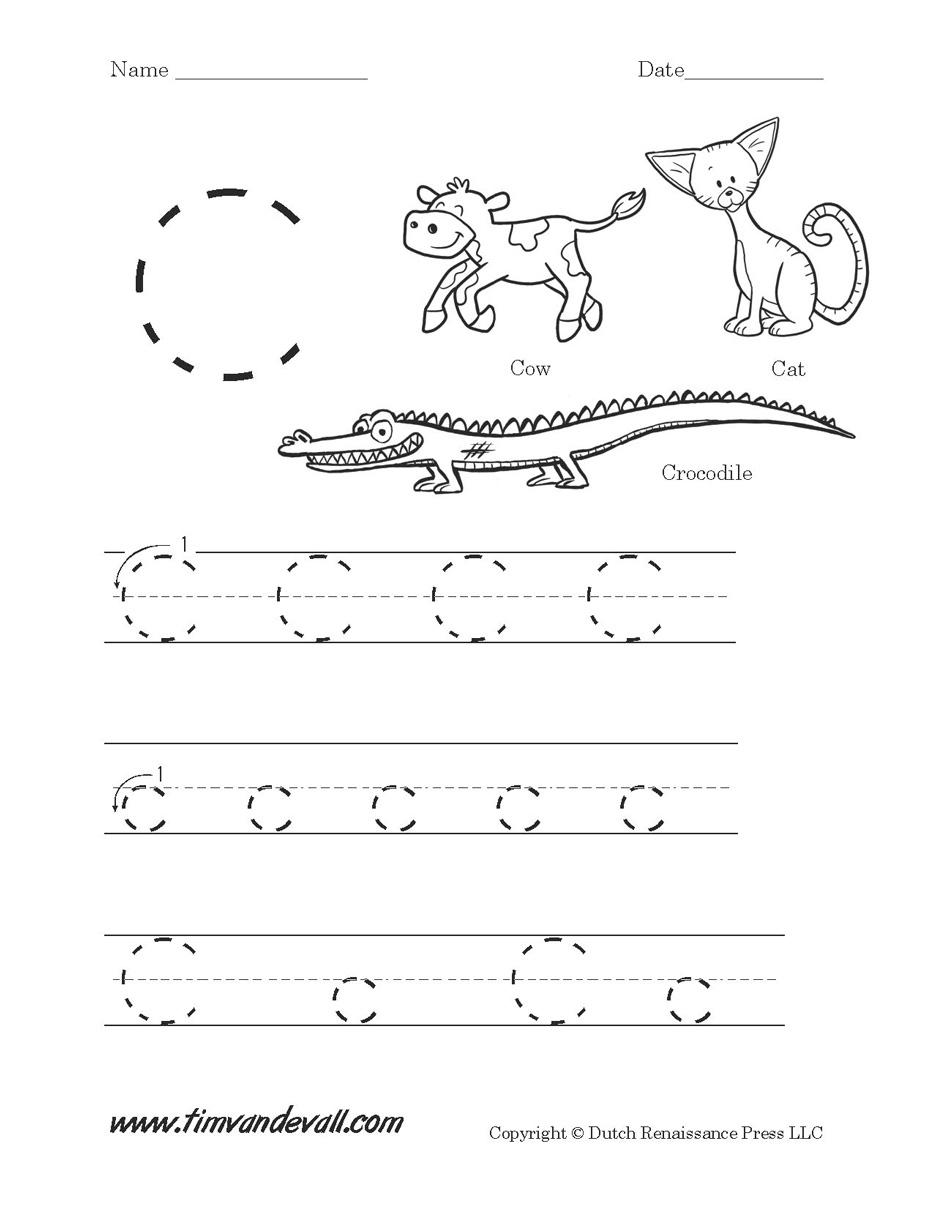 Letter C Worksheets   Preschool Alphabet Printables   Letter C Printable Worksheets