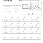 Letter C Writing Practice Worksheet   Free Kindergarten English   Letter C Printable Worksheets