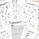 Letter F Worksheets   Alphabet Series   Easy Peasy Learners | Printable Alphabet Worksheets