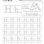 Letter H Writing Practice Worksheet   Free Kindergarten English | Free Printable Letter Practice Worksheets