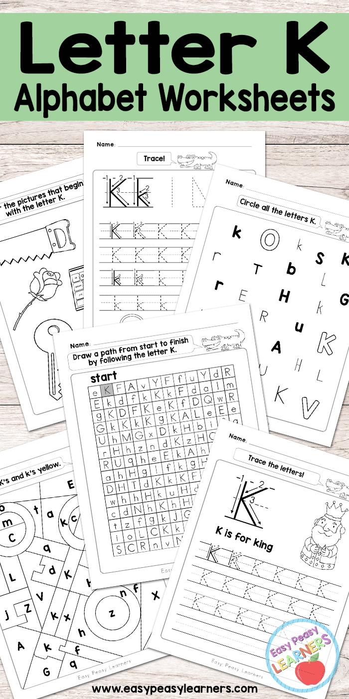 Letter K Worksheets - Alphabet Series - Easy Peasy Learners | Letter K Worksheets Printable