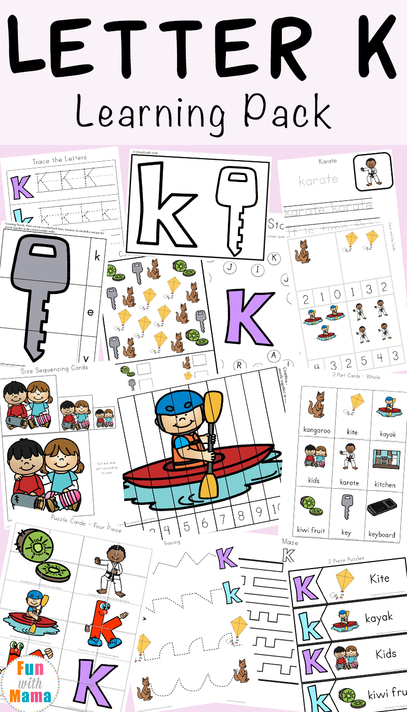 Letter K Worksheets - Fun With Mama | Free Printable Letter K Worksheets