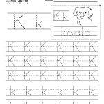 Letter K Writing Practice Worksheet   Free Kindergarten English | Letter K Worksheets Printable