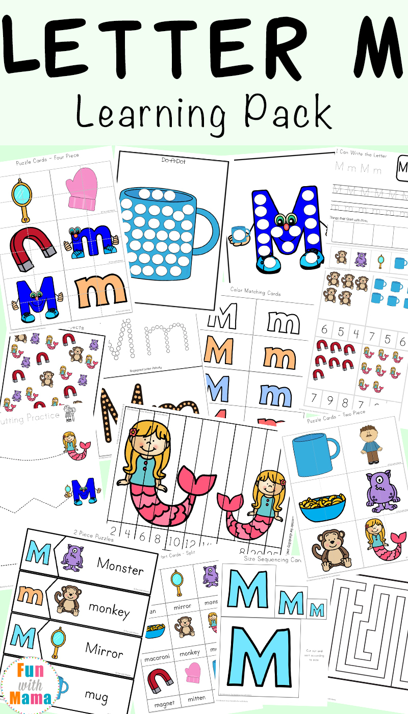 Letter M Worksheets - Fun With Mama   Letter M Printable Worksheets