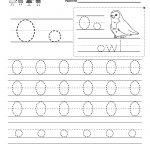 Letter O Writing Practice Worksheet   Free Kindergarten English | Letter O Printable Worksheets