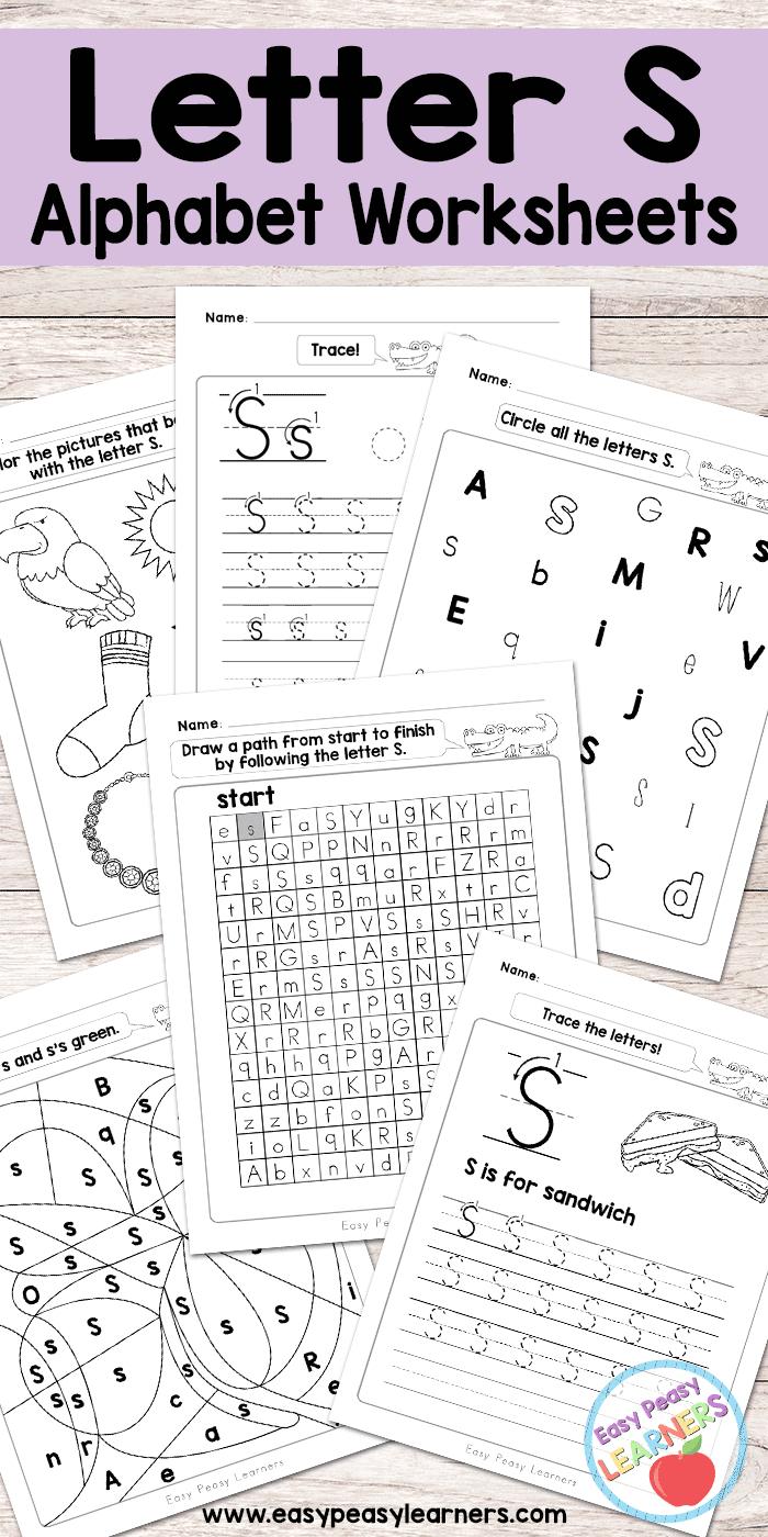 Letter S Worksheets - Alphabet Series - Easy Peasy Learners | Free Printable Letter Worksheets