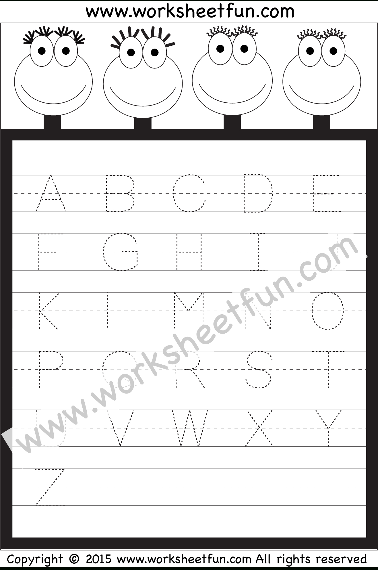 Letter Tracing Worksheet – Capital Letters / Free Printable | Capital Letters Printable Worksheets