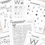 Letter W Worksheets   Alphabet Series   Easy Peasy Learners | Free Printable Letter Recognition Worksheets