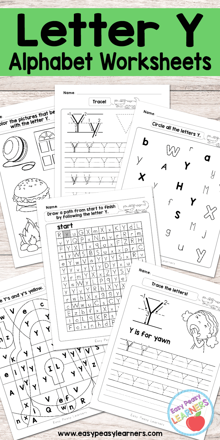 Letter Y Worksheets - Alphabet Series - Easy Peasy Learners   Printable Letter Worksheets