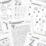 Letter Z Worksheets   Alphabet Series   Easy Peasy Learners | Letter Z Worksheets Free Printable