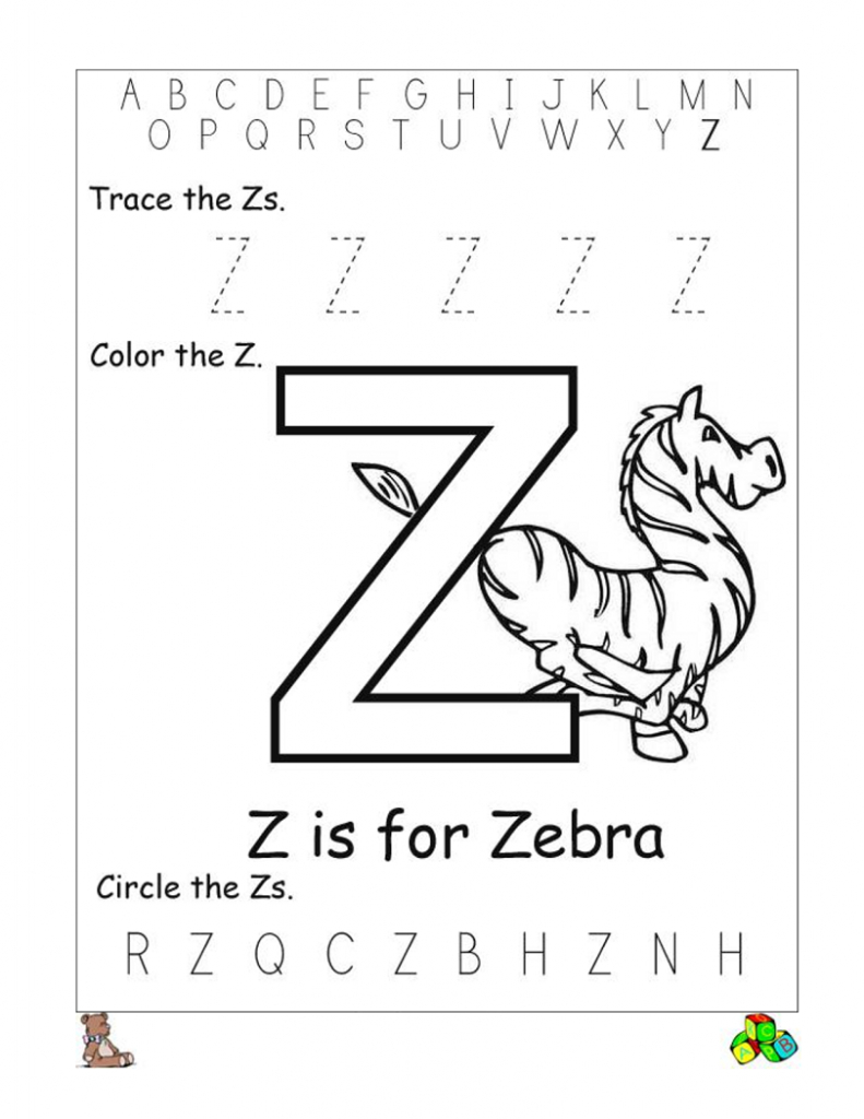 Letter Z Worksheets | Kiddo Shelter | Letter Z Worksheets Free Printable