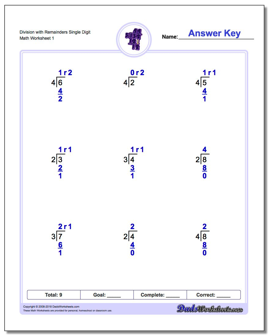 Long Division Worksheets | Printable Math Worksheets Long Division