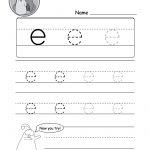 "Lowercase Letter ""e"" Tracing Worksheet   Doozy Moo 