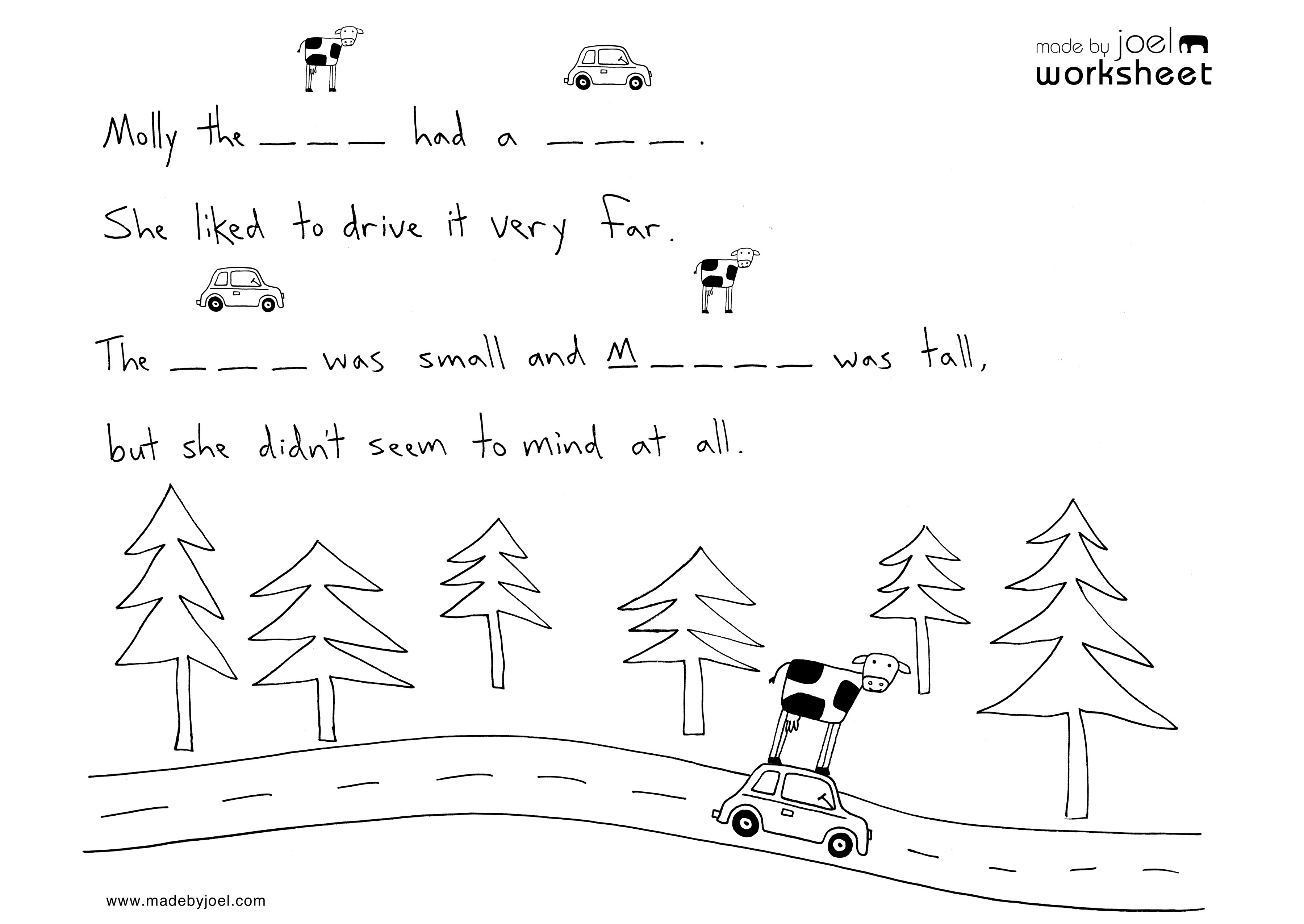 Madejoel » Kids Spelling Worksheet No. 2 | Spelling Worksheets For Kindergarten Printable