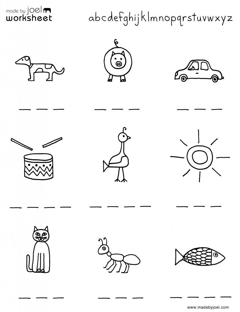 Madejoel » Spelling Worksheet For Summer – Kindergarten | Printable Spelling Worksheets For Kindergarten