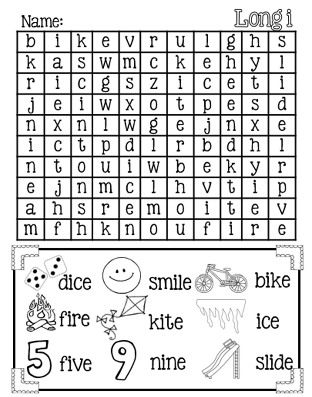 Silent E Printable Worksheets | Printable Worksheets