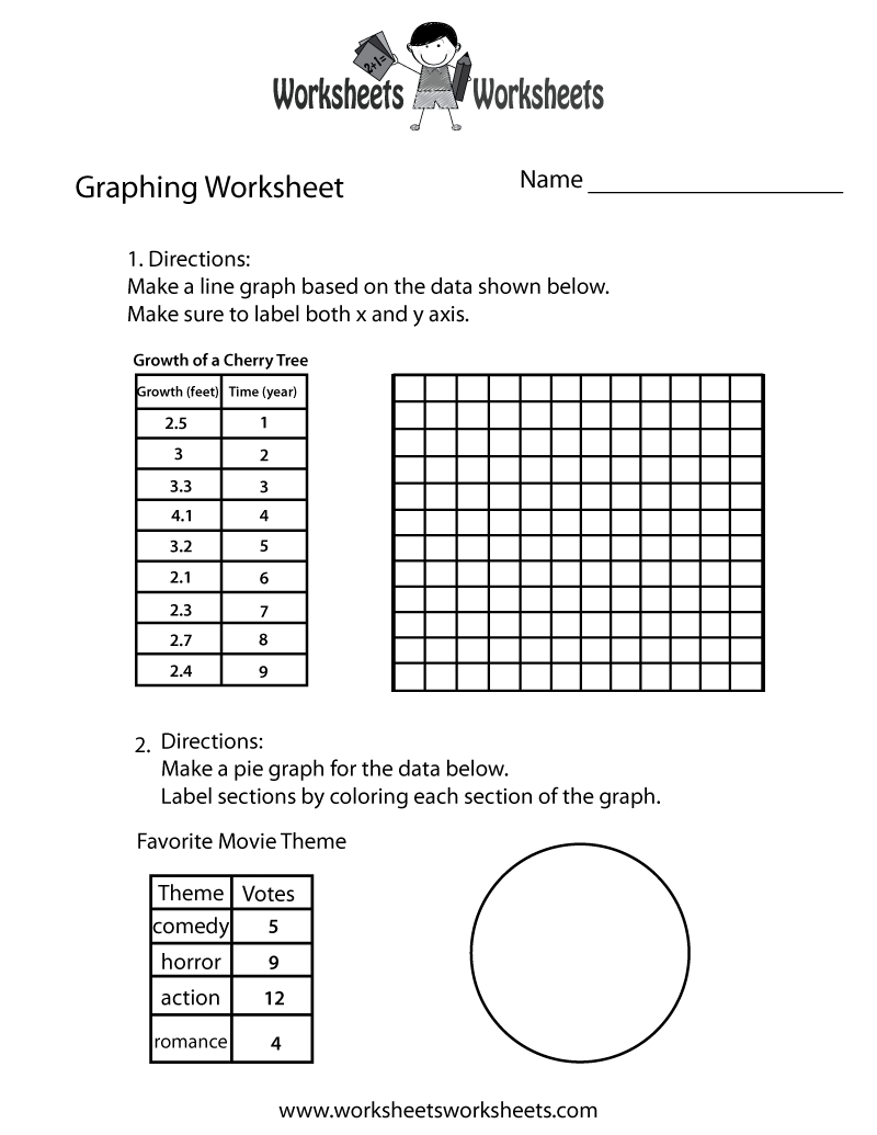 Make A Graph Worksheet - Free Printable Educational Worksheet | Free Printable Pie Graph Worksheets