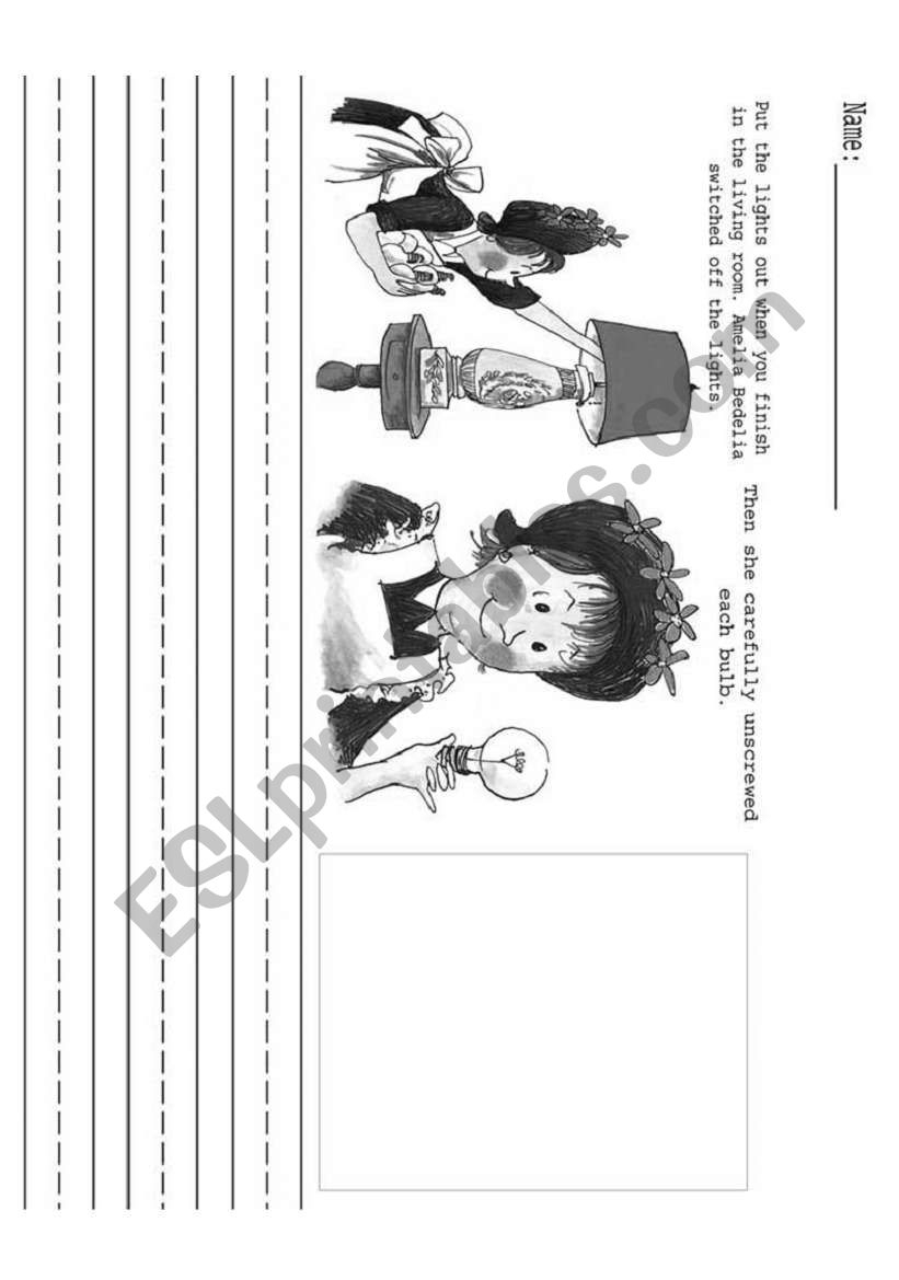 Making Predictions With Amelia Bedelia - Esl Worksheethandfulofgerms | Amelia Bedelia Printable Worksheets