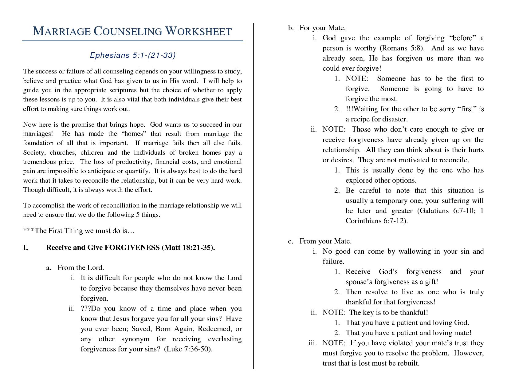 Marriage+Help+Worksheet | Marriage Counseling Worksheet | Couples | Printable Marriage Counseling Worksheets