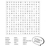 Martin Luther King Jr. Free Printable Word Search Worksheet | Free Printable Martin Luther King Jr Worksheets