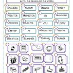 Match The Computer Parts Worksheet   Free Esl Printable Worksheets | Computer Worksheets Printables